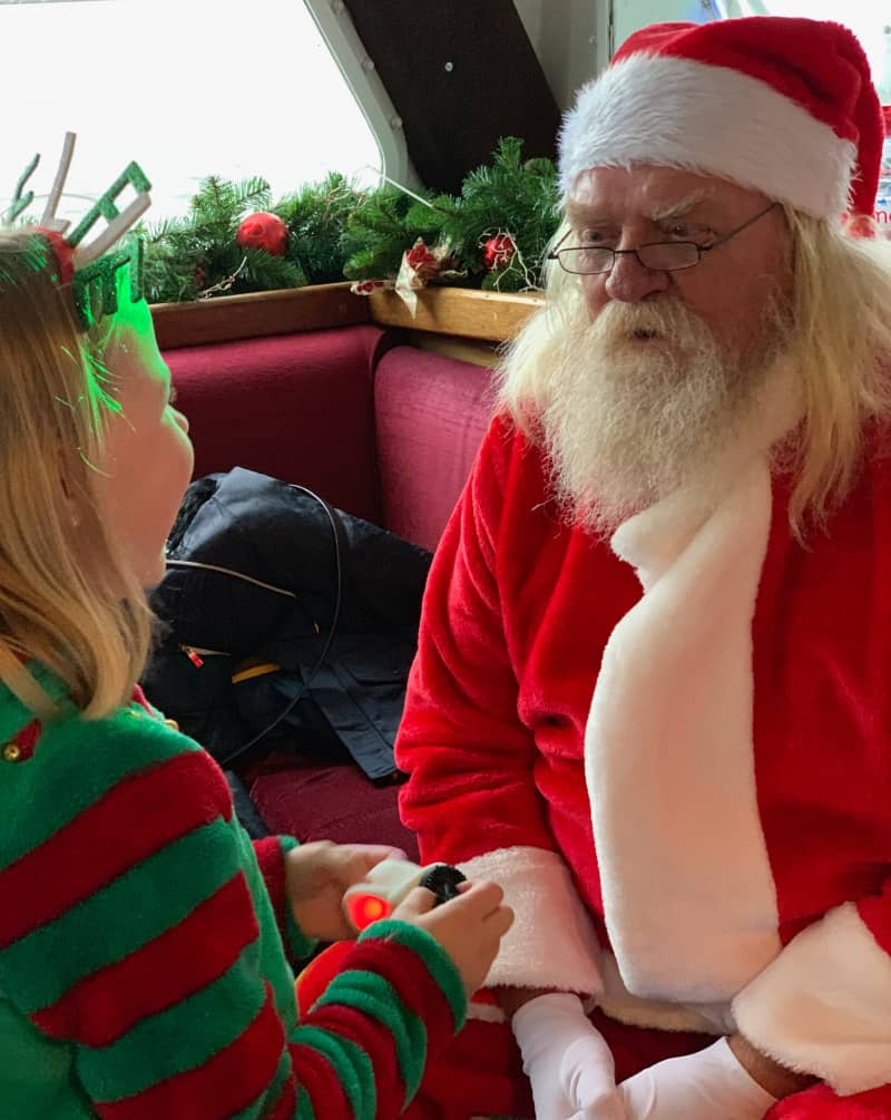 Eliza with Santa