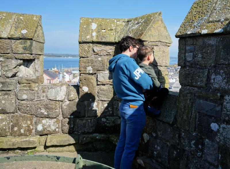 Caernarfon Castle Sebby and Kian