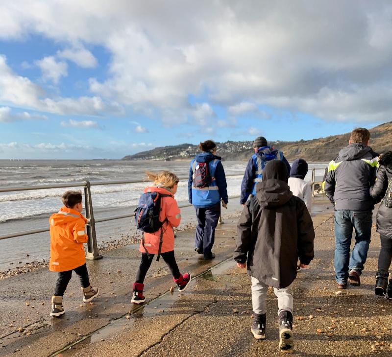 Charmouth Beach Fossil Walk