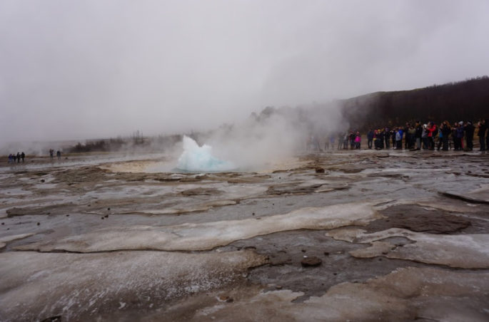Geysir going off
