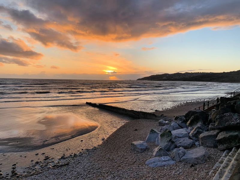 Sunset-Charmouth