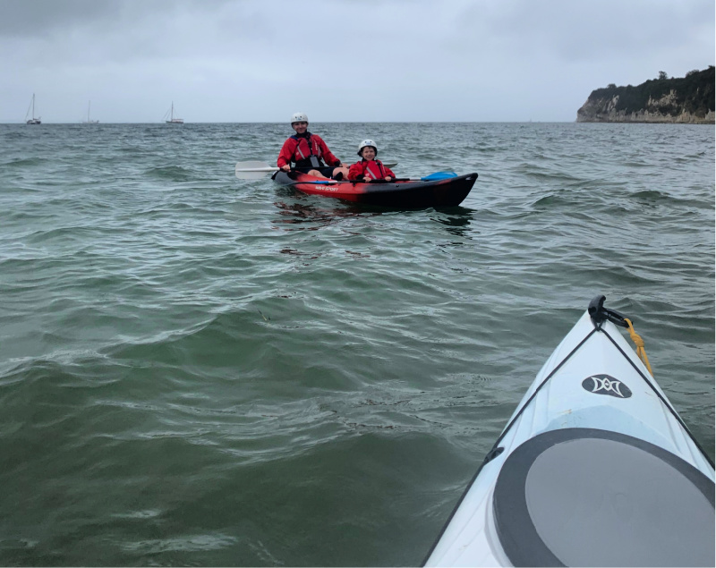 Kayak Kian and Sebby